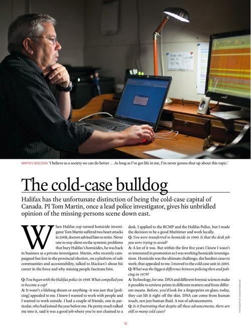 The cold-case bulldog | Rosemary Counter